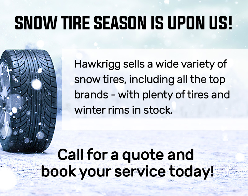 Snow Tire Season is Upon Us